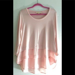 Michael Kors Nude Pink Layered Blouse